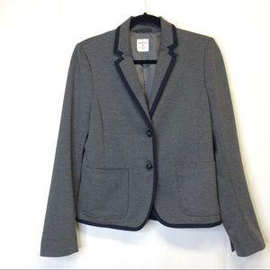Gap Academy Preppy Gray Blazer Two Button Size 4 #
